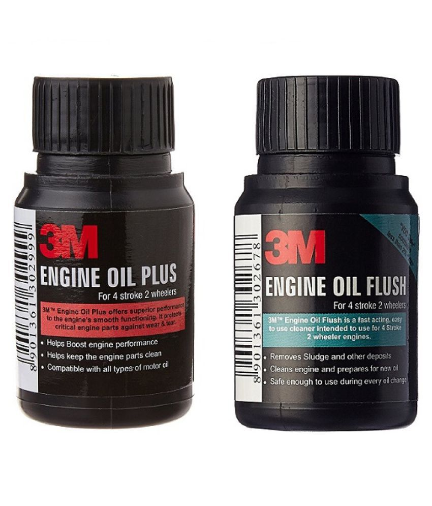 3M BIKE ENGINE OIL FLUSH + 3M ENGINE OIL ADDITIVE FOR ALL TWO WHEEDLERS  ENGINES