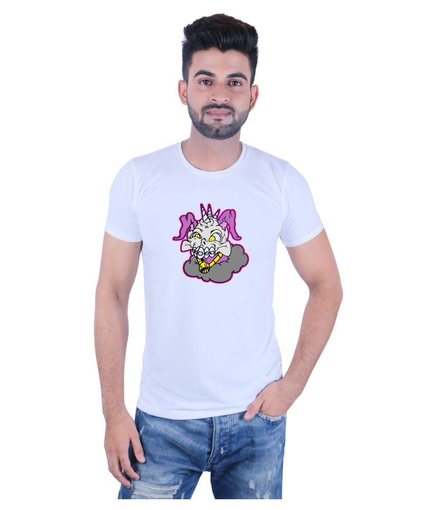 Shoe Mate White Round T-Shirt
