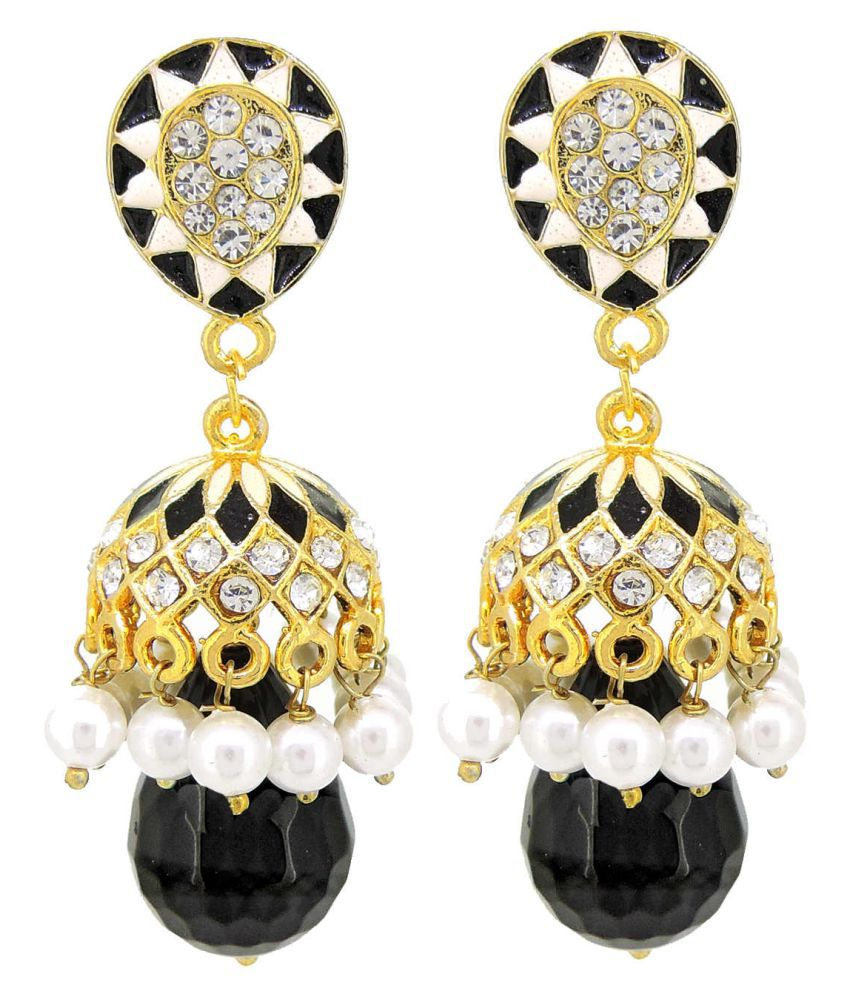 Traditional Enamelled American Dimonds Desginer Stylish Party Wear Jhumki / Jhumka Earring For Girls / Women