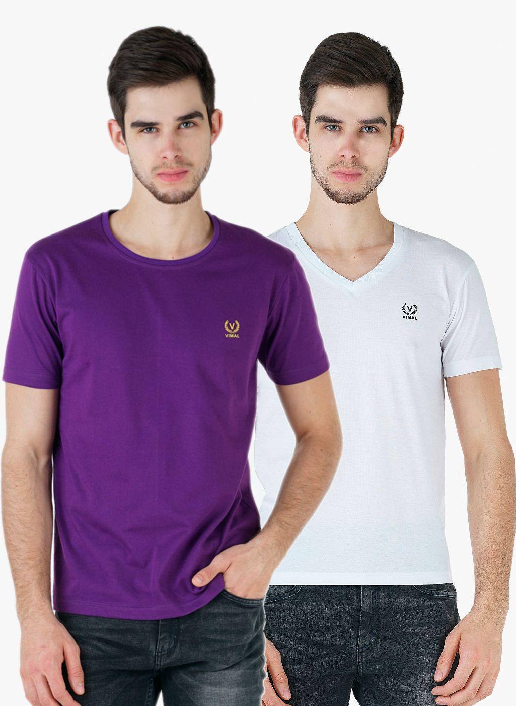 Vimal Multi Round T-Shirt Pack of 2