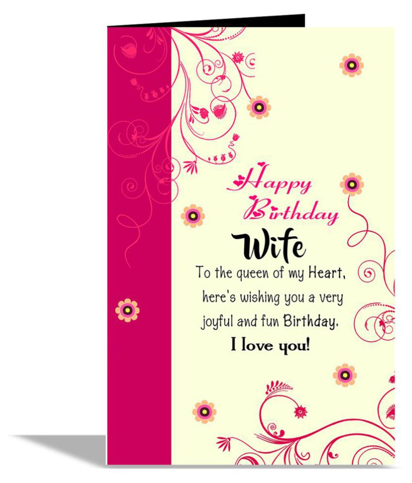 Happy Birthday Wife Greeting Card Buy Online At Best Price In India