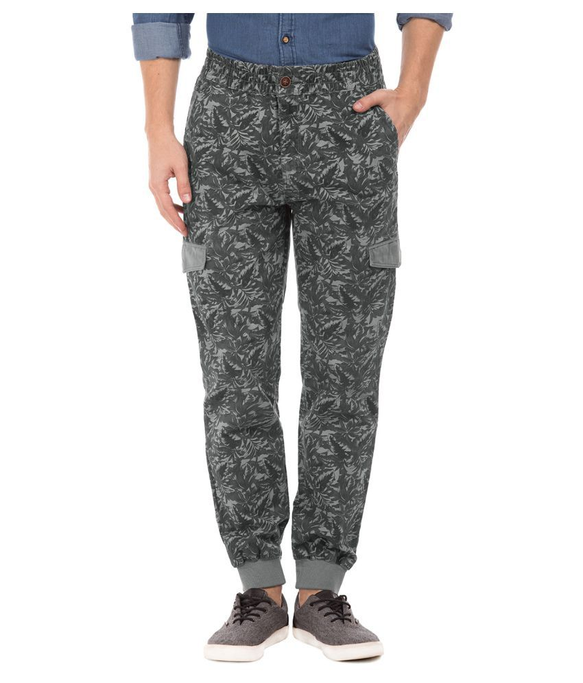 U.S. Polo Assn. Grey Slim -Fit Flat Trousers