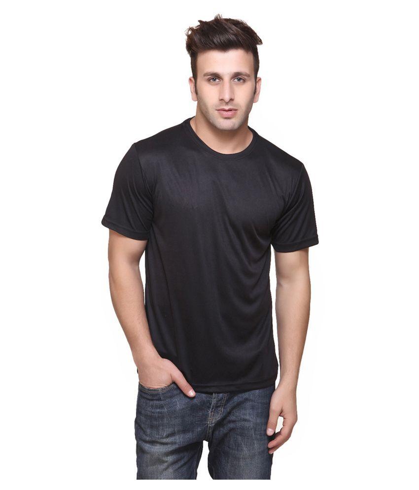 FUNKY GUYS Black Polyester T-Shirt Single Pack