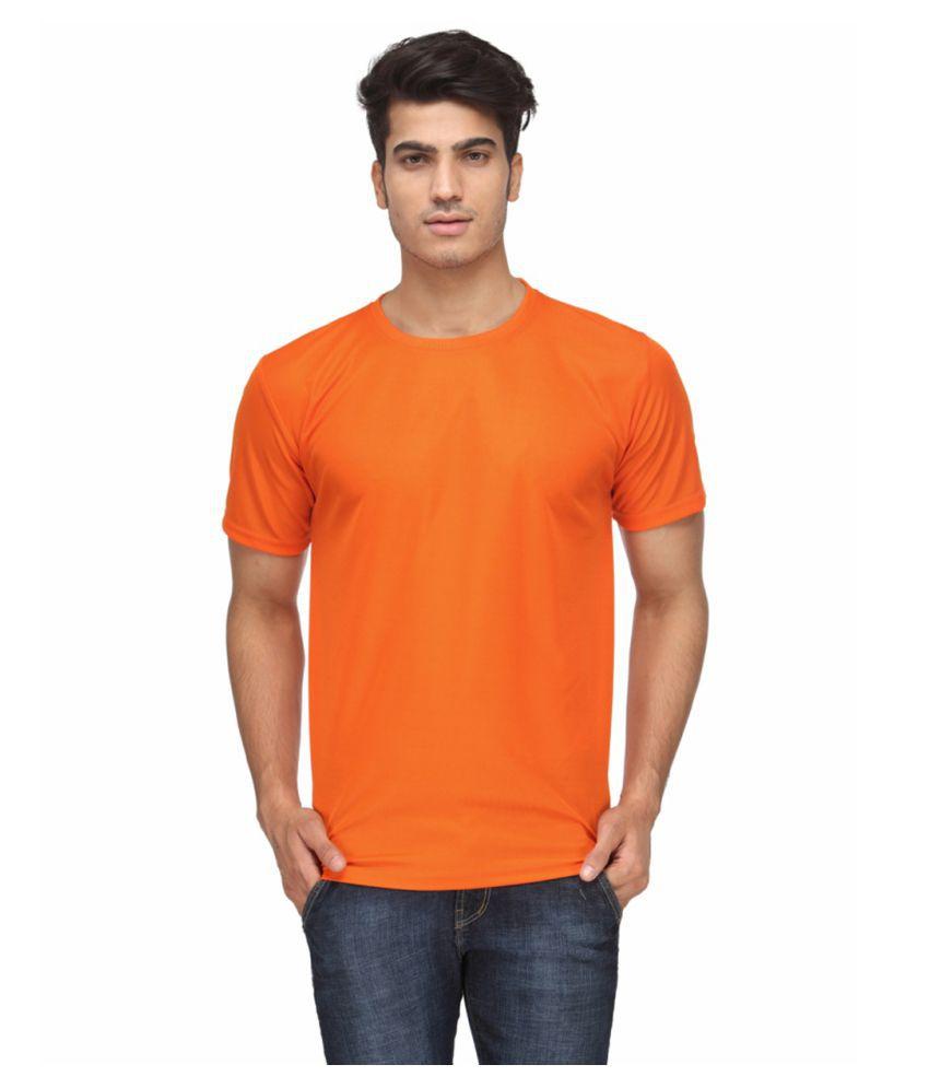 FUNKY GUYS Orange Polyester T-Shirt Single Pack