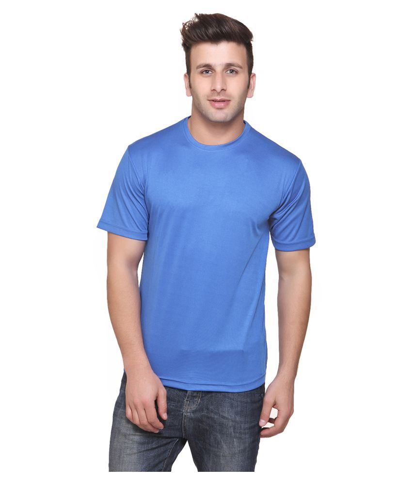 FUNKY GUYS Sky Blue Polyester T-Shirt Single Pack