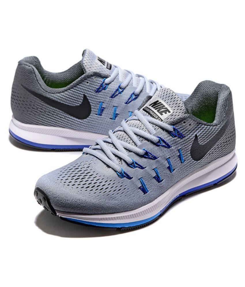 Nike 1 Pegasus 33 Grey Blue Running Shoes - Buy Nike 1 Pegasus 33 ... 0c135a23f