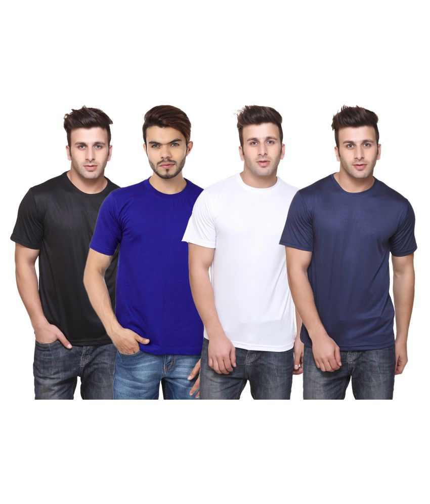 CONCEPTS Multi Polyester T-Shirt Pack of 4