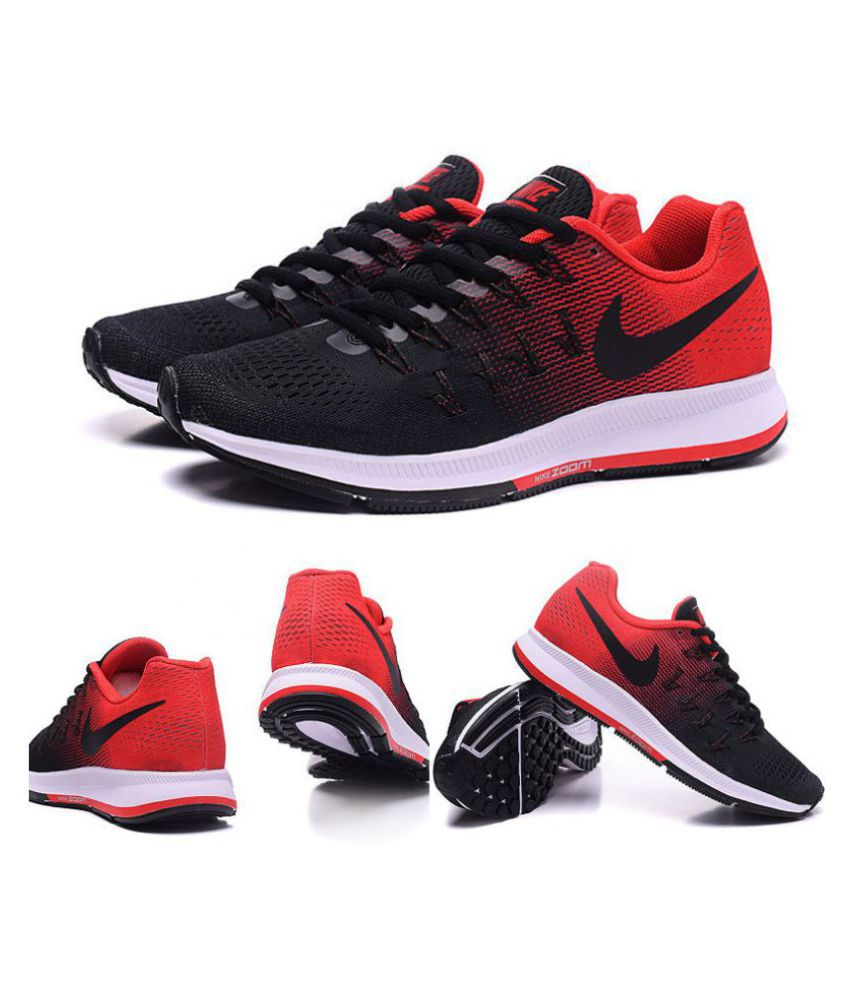 1845804ef8c43 Nike Air Pegasus 33 Black Red Running Shoes - Buy Nike Air Pegasus 33 Black  Red Running Shoes Online at Best Prices in India on Snapdeal