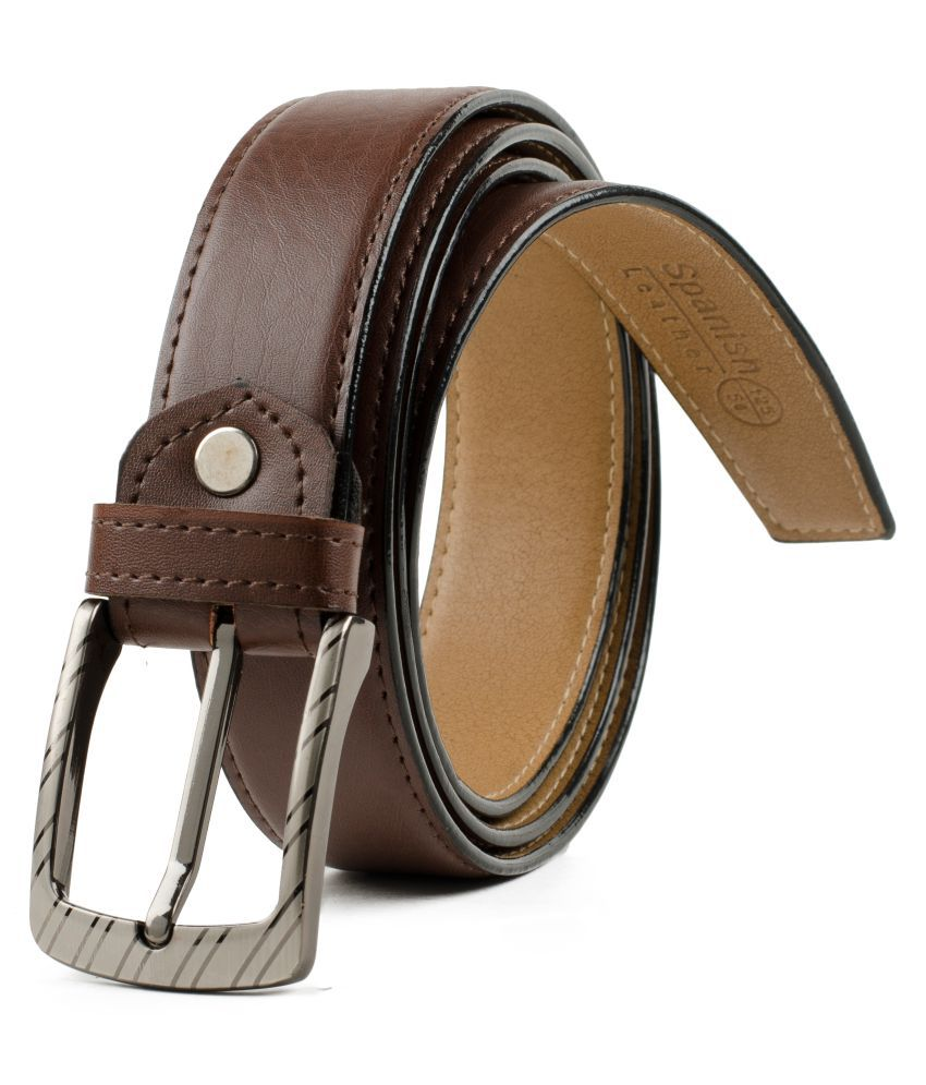 Winsome Deal Brown Leather Formal Belts