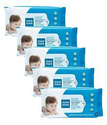 Mee Mee Caring Baby Wet Wipes, Lemon Fragrance (72 Pieces)(Pack of 5)