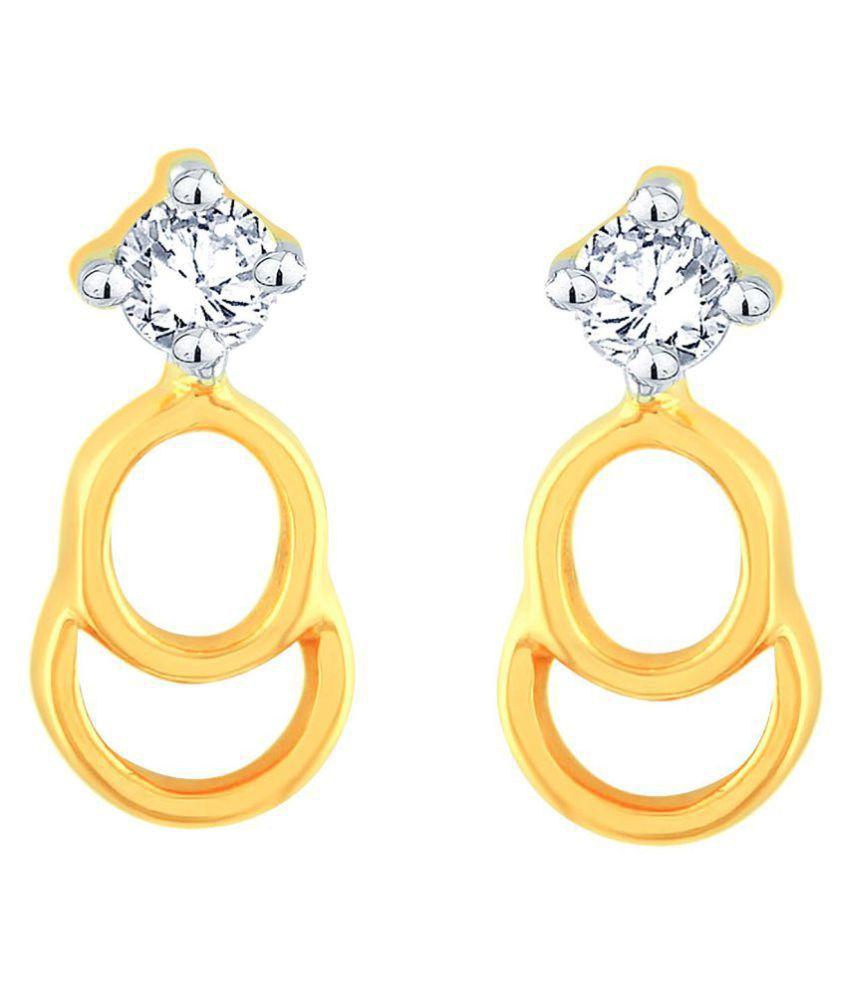 Celenne By Gili 18k BIS Hallmarked Yellow Gold Diamond Studs