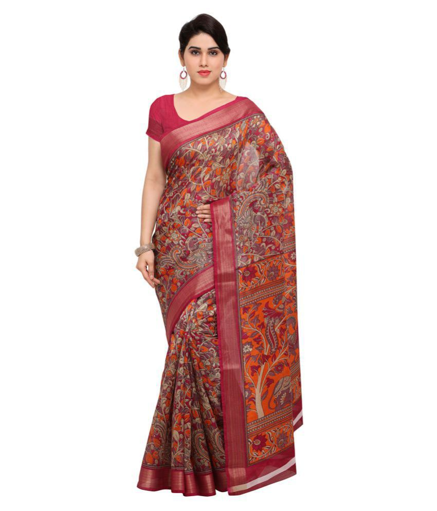Saree Mall Multicoloured Art Silk Saree