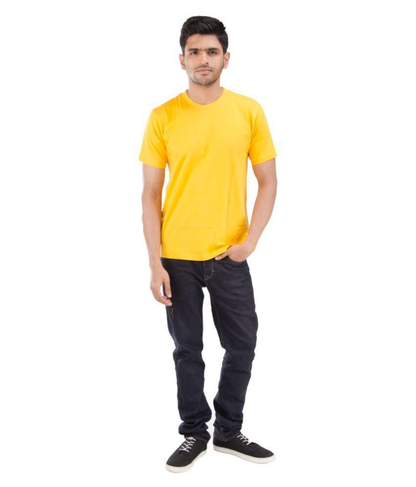 Blueash Yellow Round T-Shirt