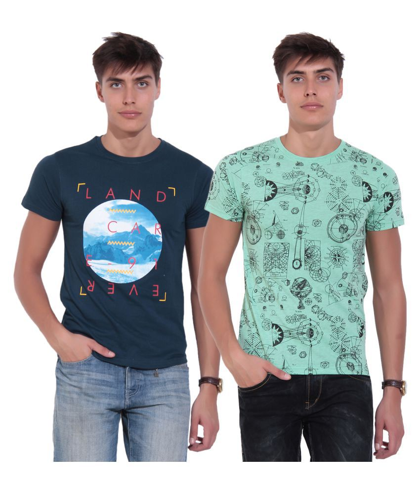 TAB91 Multi Round T-Shirt Pack of 2