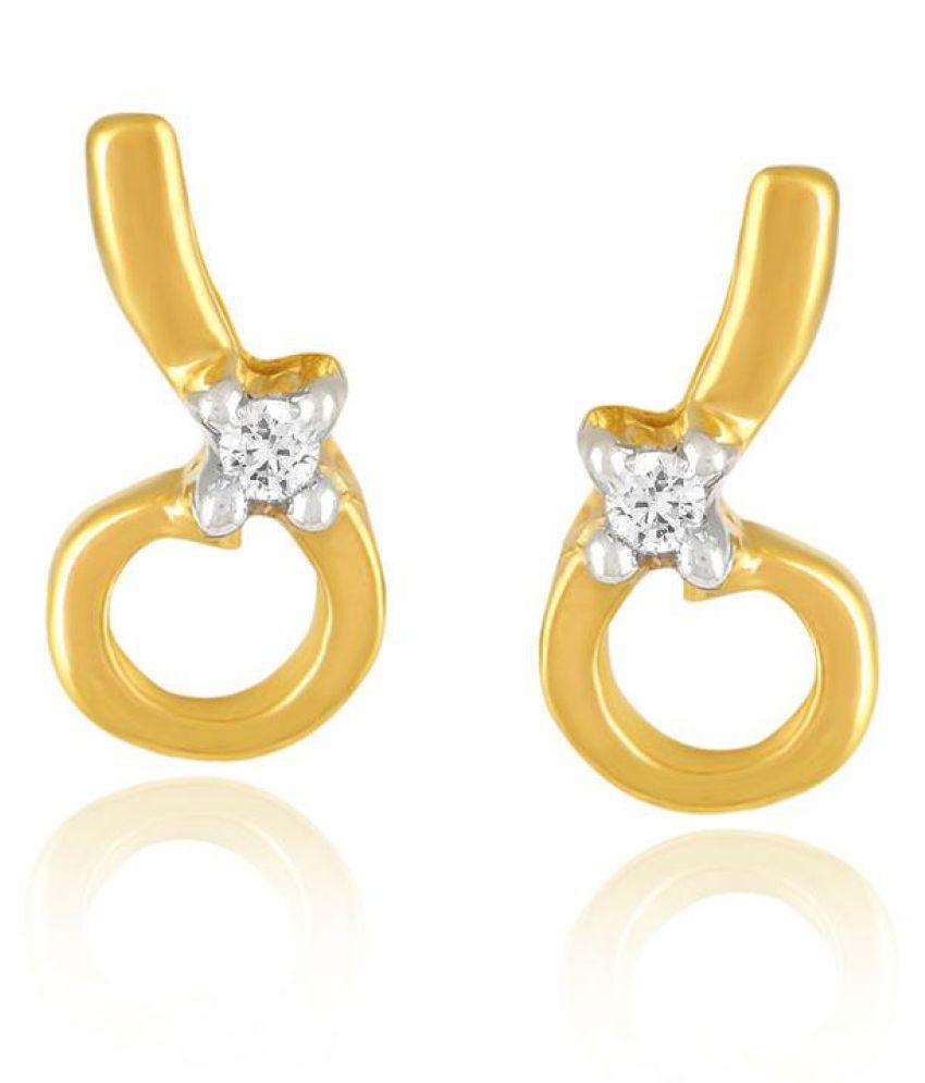Diya 18k BIS Hallmarked Yellow Gold Diamond Studs