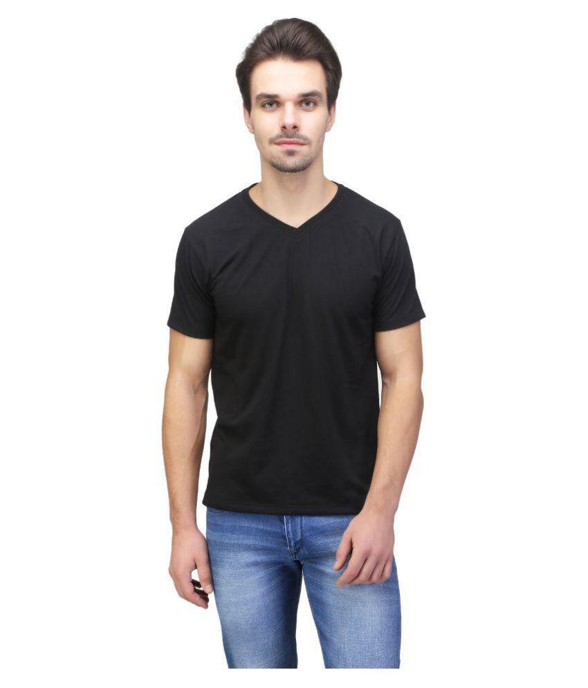 Be-Beu Black V-Neck T-Shirt