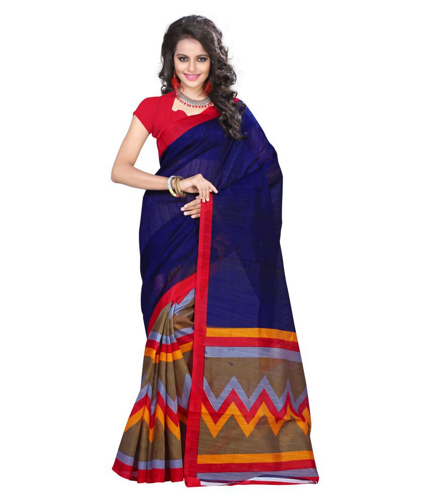 Shailaja Sarees Multicoloured Bhagalpuri Silk Saree