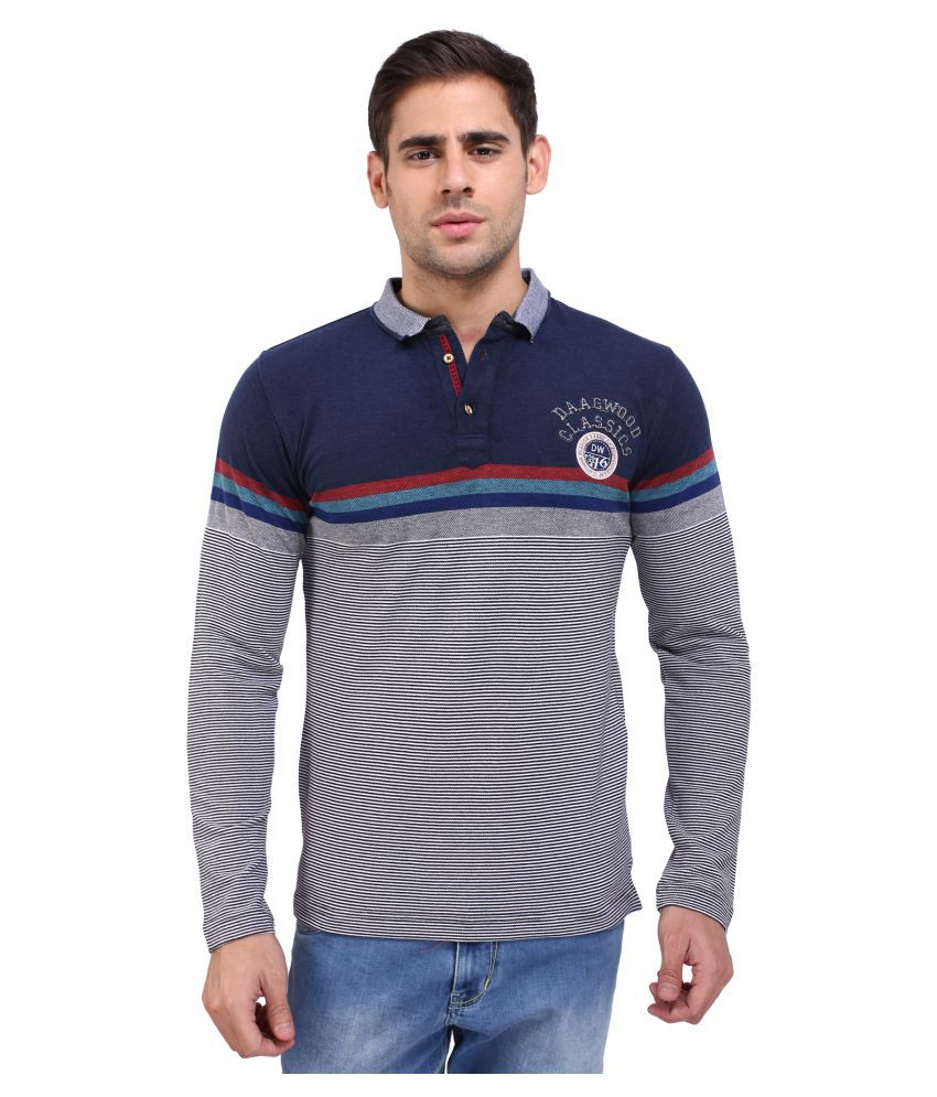 Daagwood Navy Round T-Shirt