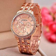 Renaissance Traders Beautiful Diamond Partywear Royal Luxury Rose Gold Watch For Women
