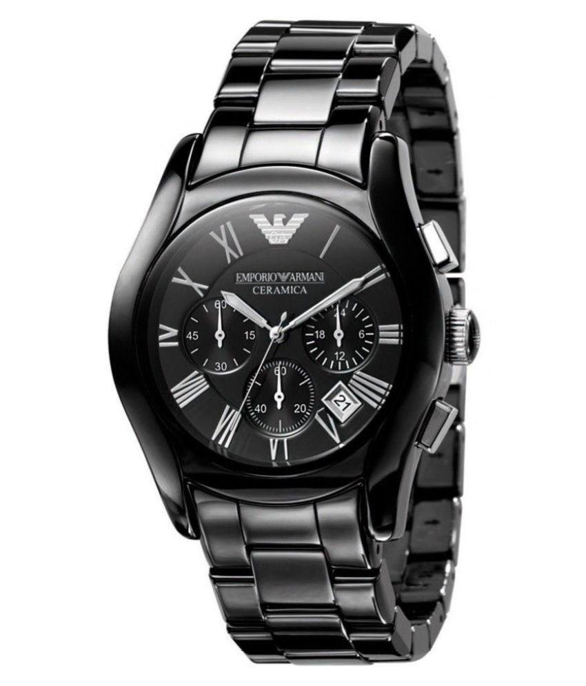 Emporio armani ar1400 ceramica chronograph watch for men buy emporio armani ar1400 ceramica for Ceramica chronograph
