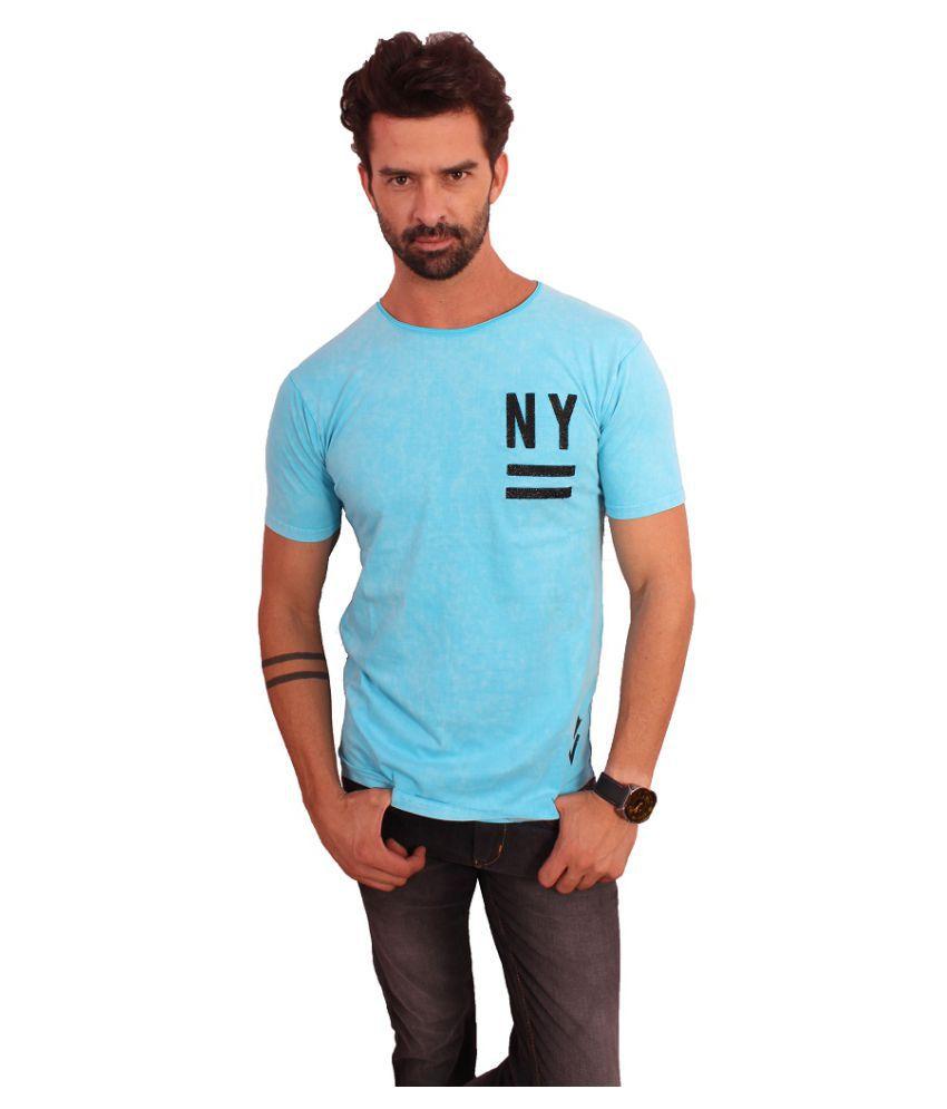 Recherche Blue Round T-Shirt