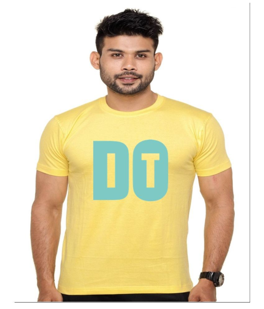 Ejebo Yellow Round T-Shirt
