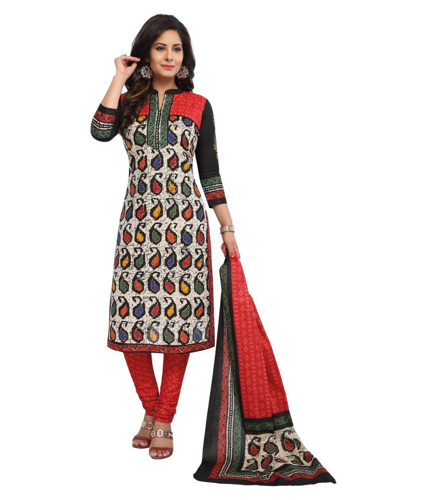 Salwar Studio Multicoloured Cotton Dress Material