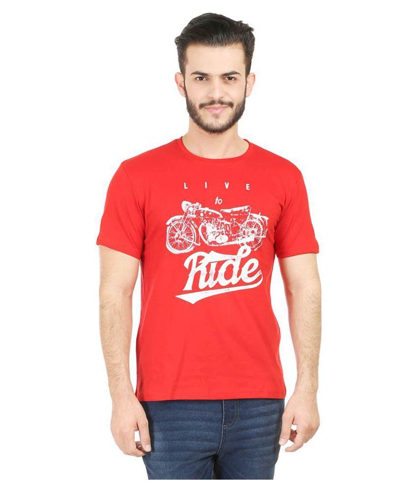 Tribal Bull Red Round T-Shirt