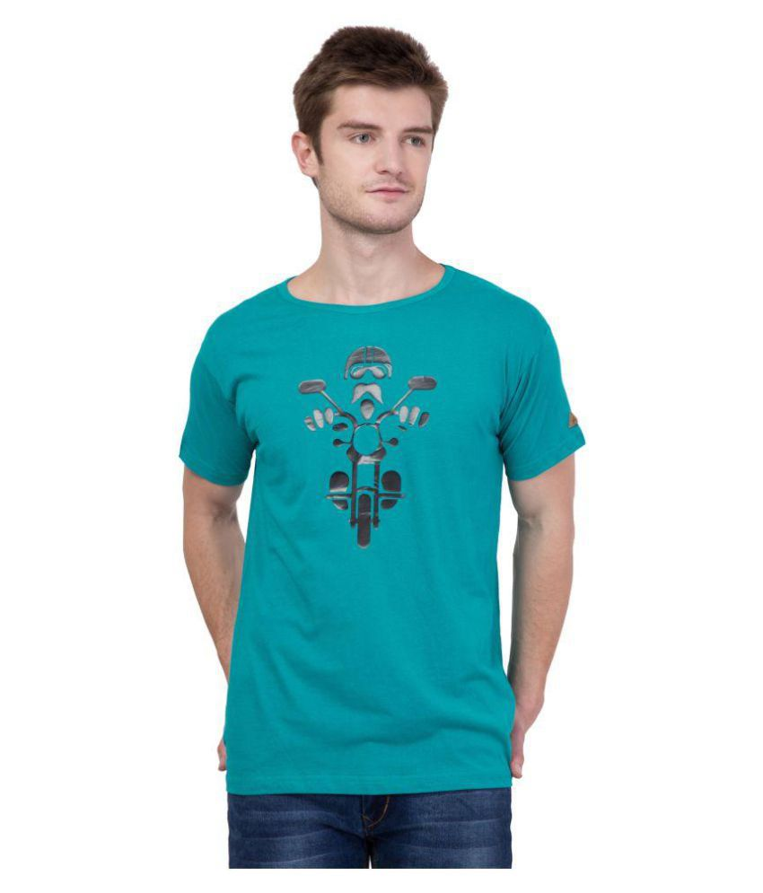 American-Elm Turquoise Round T-Shirt
