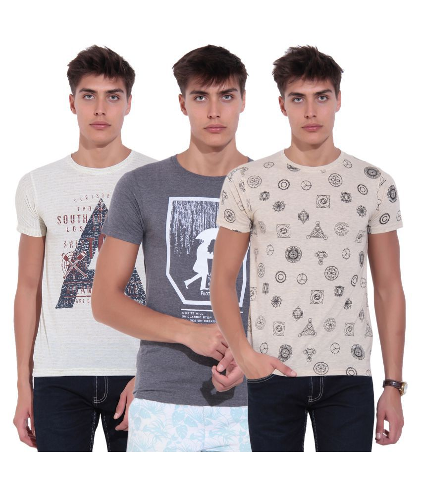 TAB91 Multi Round T-Shirt Pack of 3