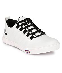LEJANO Smart Sneakers White Casual Shoes