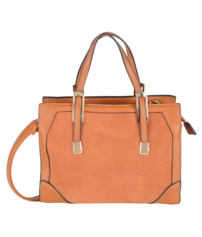 Fiona Trends Brown P.U. Satchel Bag