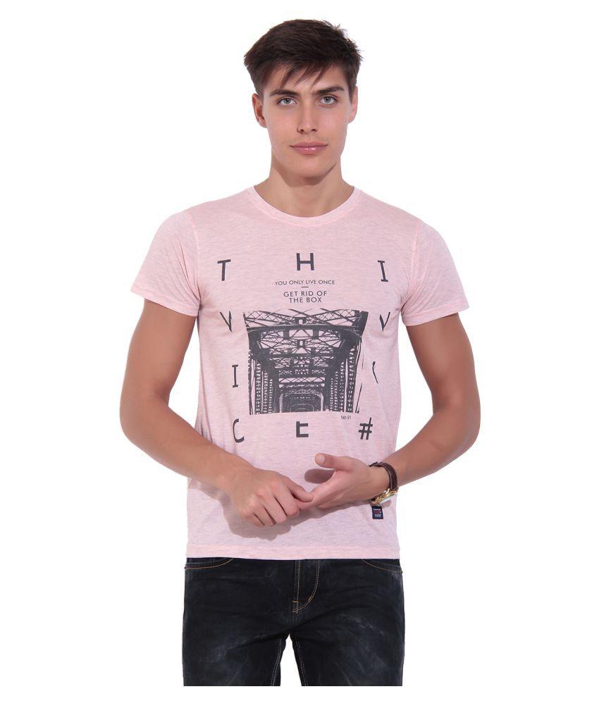 TAB91 Pink Round T-Shirt