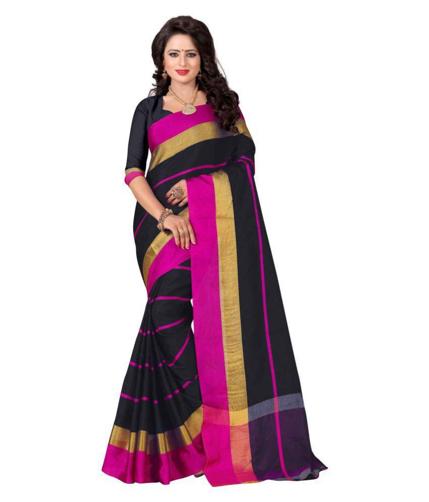 Pramukh Saris Multicoloured Cotton Silk Saree