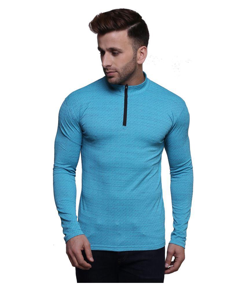 Lura Blue High Neck T-Shirt
