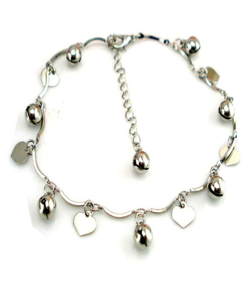 Jewellery Hub Sterling-Silver Latest trendy Anklet For Women & Girls