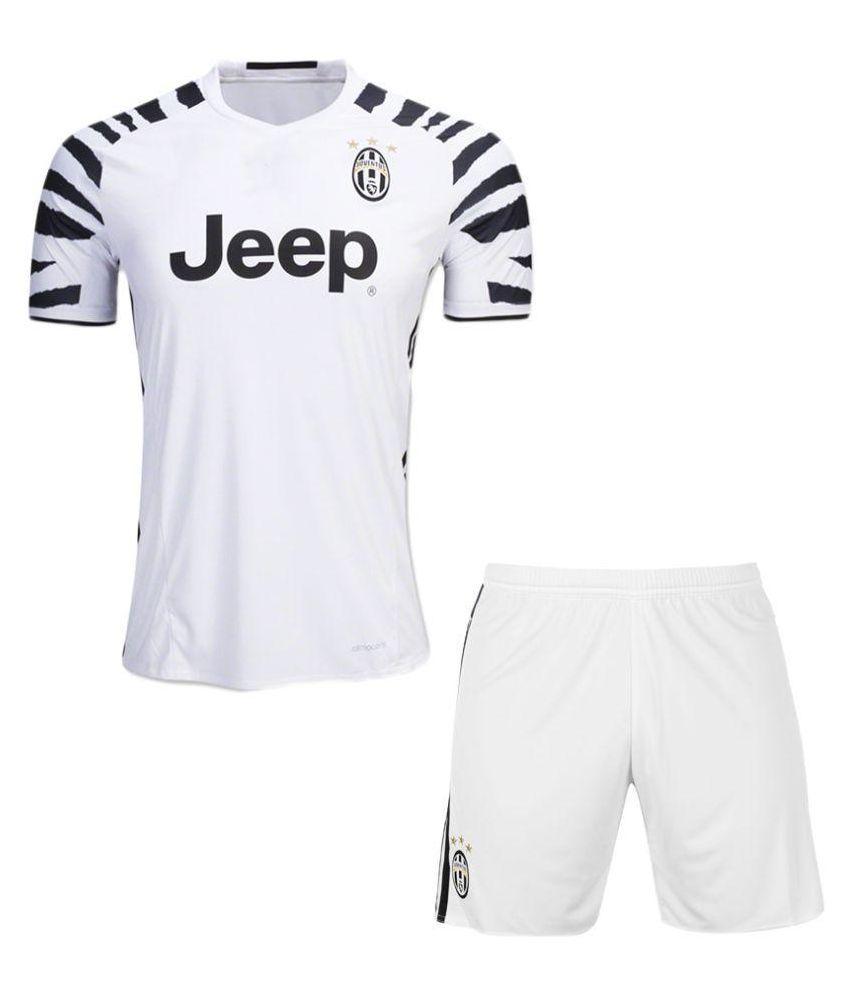 Juventus White Polyester Jersey
