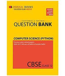 Oswaal CBSE Chapterwise and Topicwise Question Bank For Class 12 Computer Science Python(For March 2018 Exam)