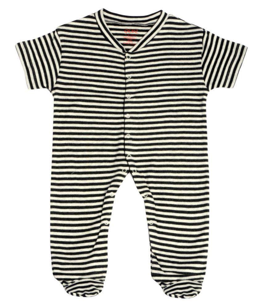 Gkidz Infants Striped Half Sleeve Sleepsuit