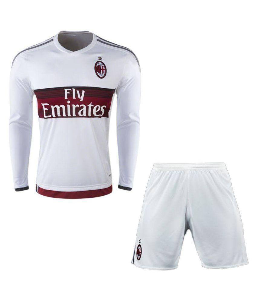 AC Milan White Polyester Jersey