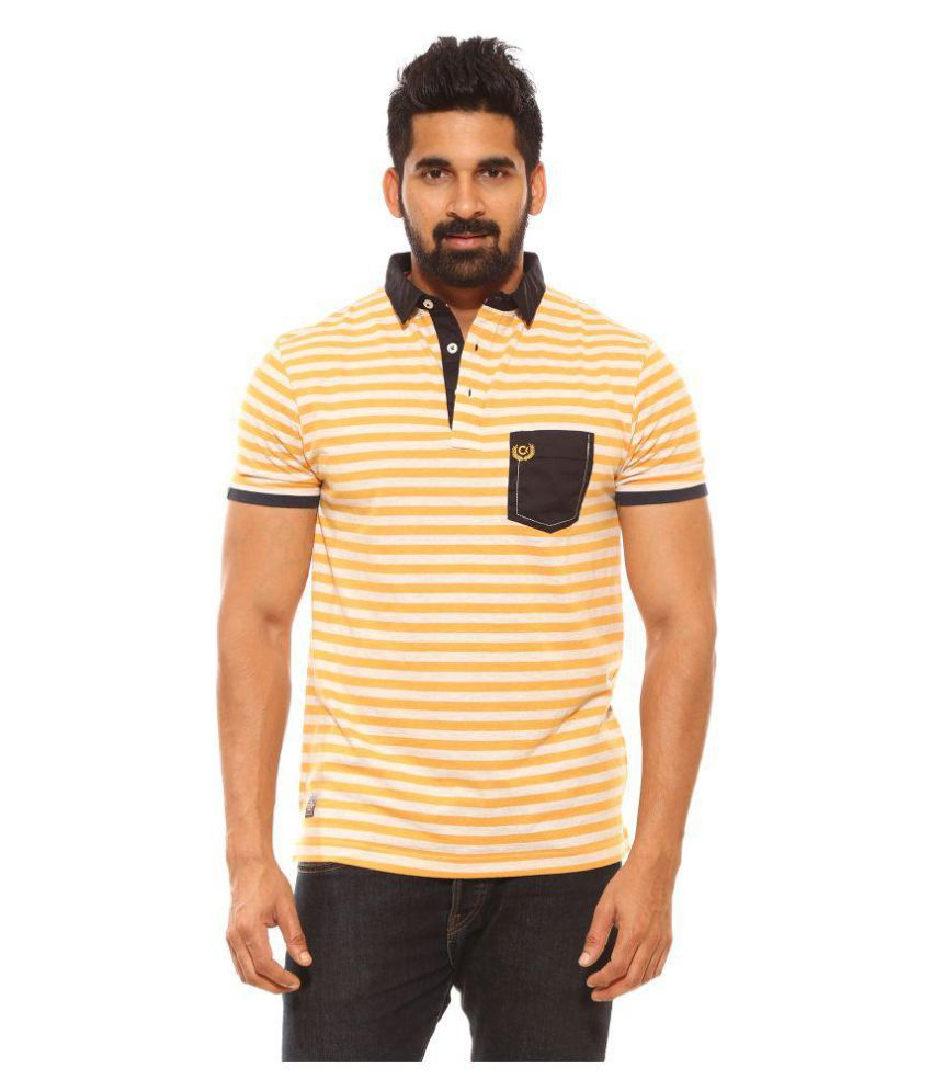 CROSSKNIT Yellow Round T-Shirt