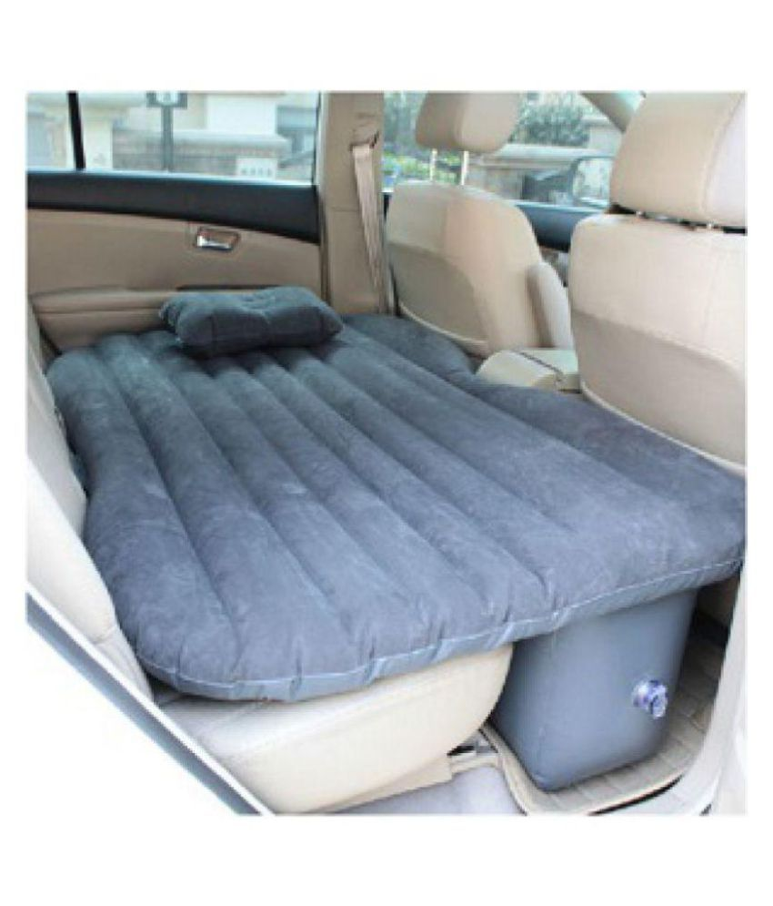 Car Inflatable Bed Self Drive Travel Air Mattress Back Seat Camping With Pump