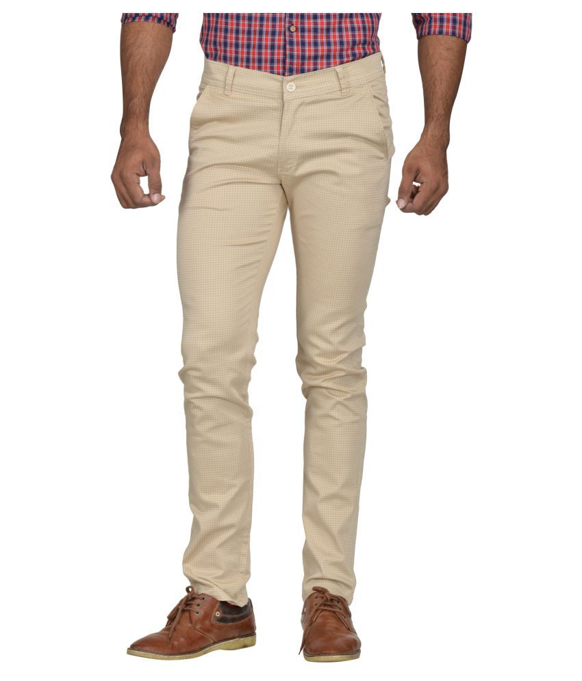 Kushsection Beige Slim -Fit Flat Trousers