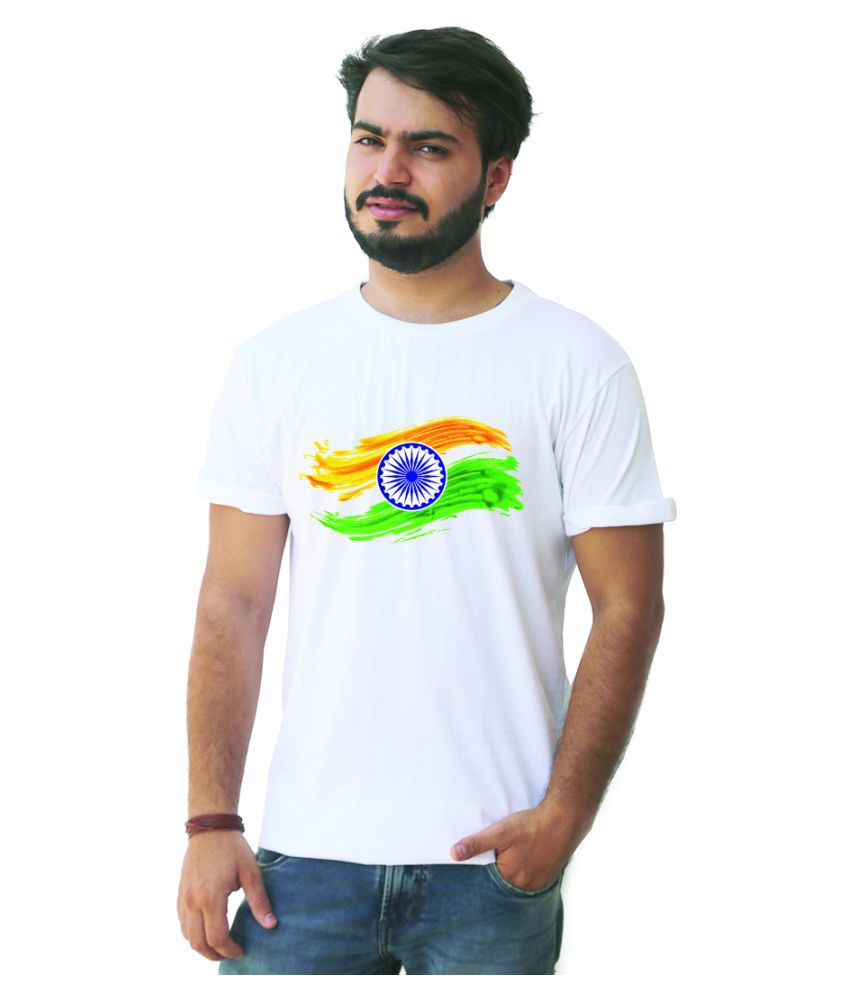 3 Dots White Round T-Shirt