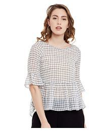 be08baad Poly Chiffon Tops: Buy Poly Chiffon Tops Online at Best Prices in ...