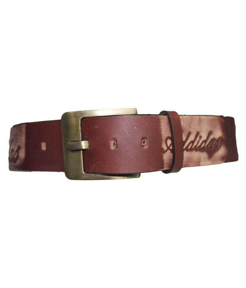 Fun-Key Brown Leather Casual Belts
