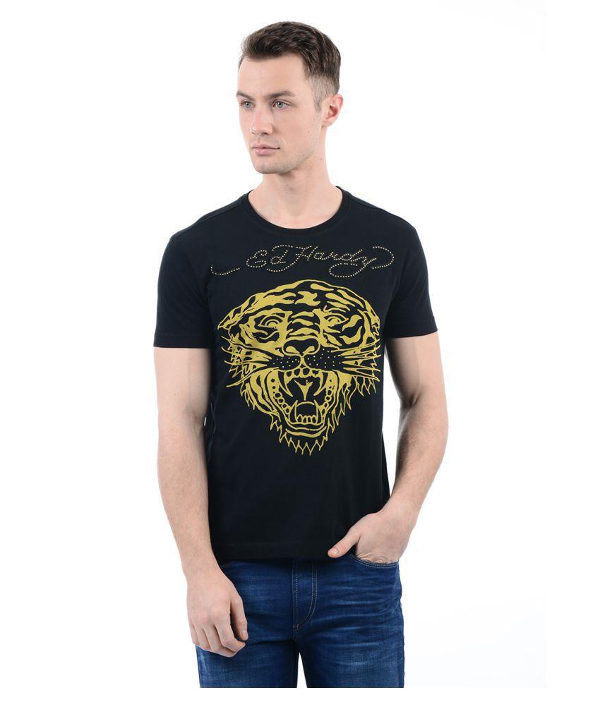 Ed Hardy Black Round T-Shirt
