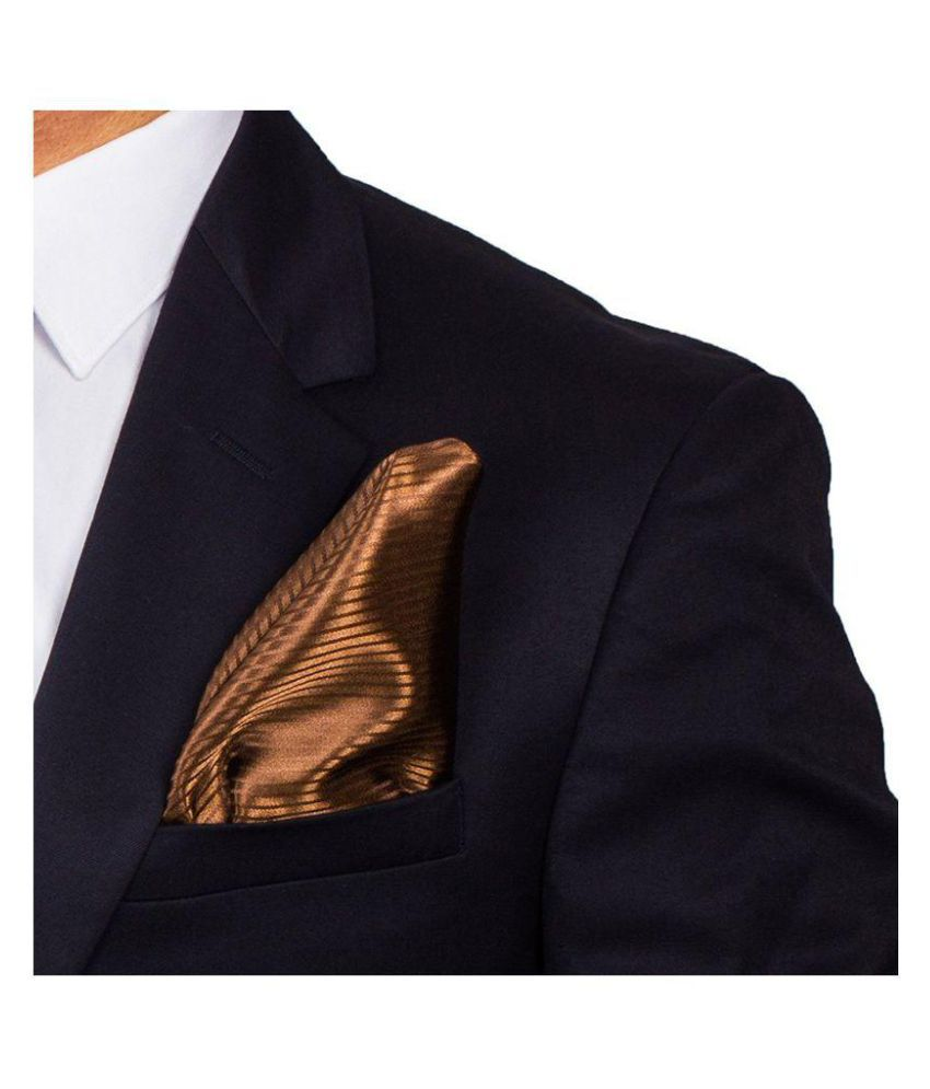 TO THE NINES Men's Brown Pocket Square