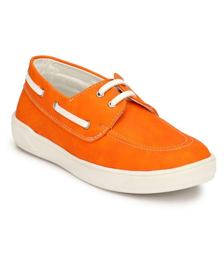 Hirels Orange Kids Derby Sneakers