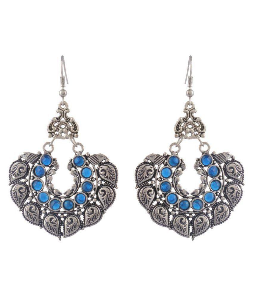 Keeda Stores Silver Brass Dangle & Drop Earrings for Women
